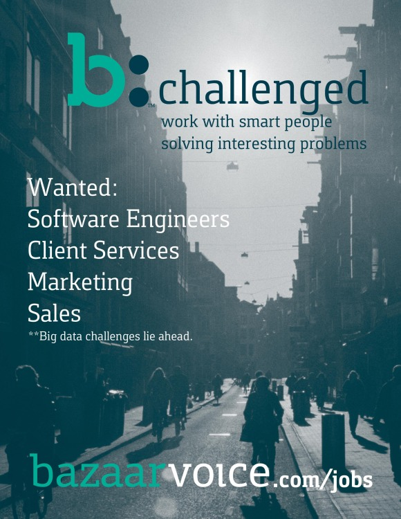 Bazaarvoice SXSW Recruitment Marketing One Sheet Front